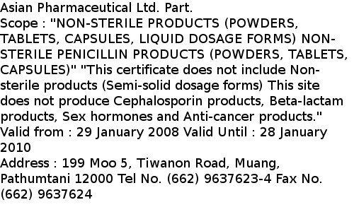 World_Pharma_certificate_thailand_status_2010