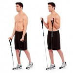 biceps curls resistance band