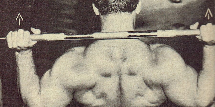 behind neck press exercise