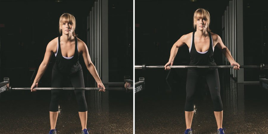 Bent Knee Barbell Row