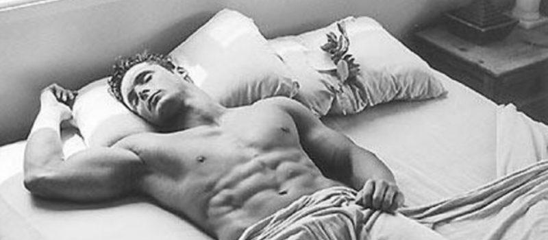 bodybuilder sleep