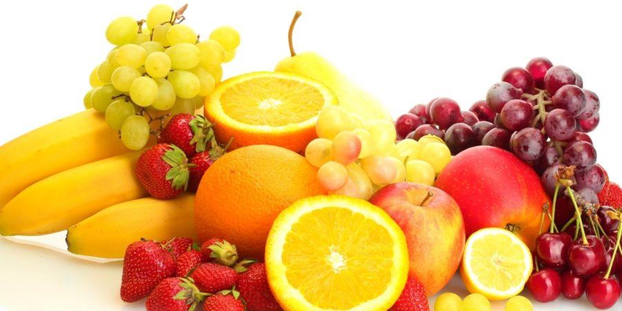 calories fruit chart
