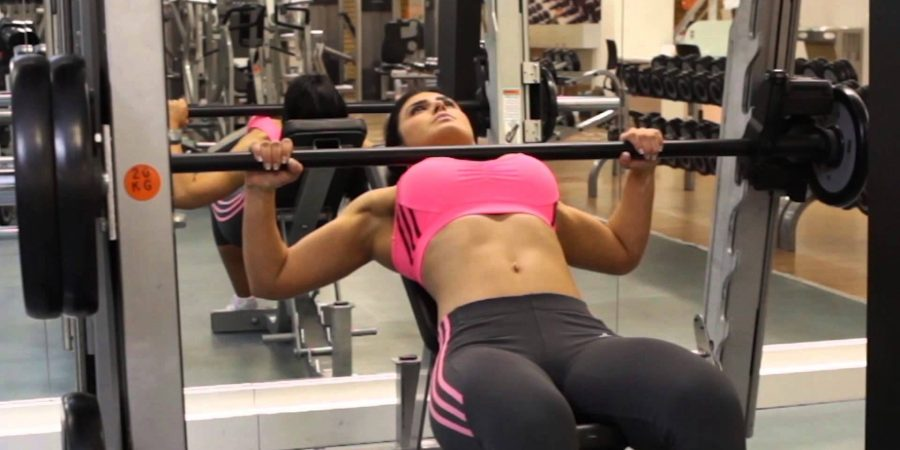 incline bench press exercise