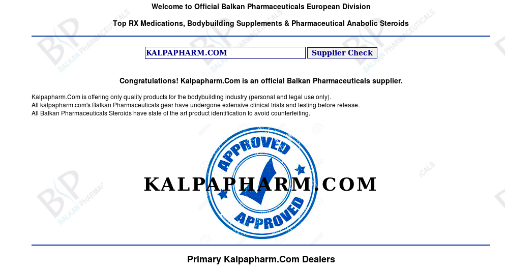 kalpapharm.com official balkan supplier