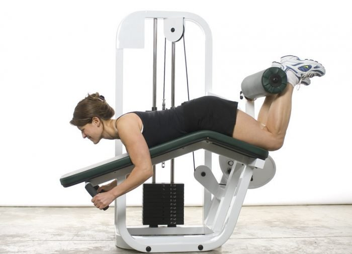 leg curl exercise