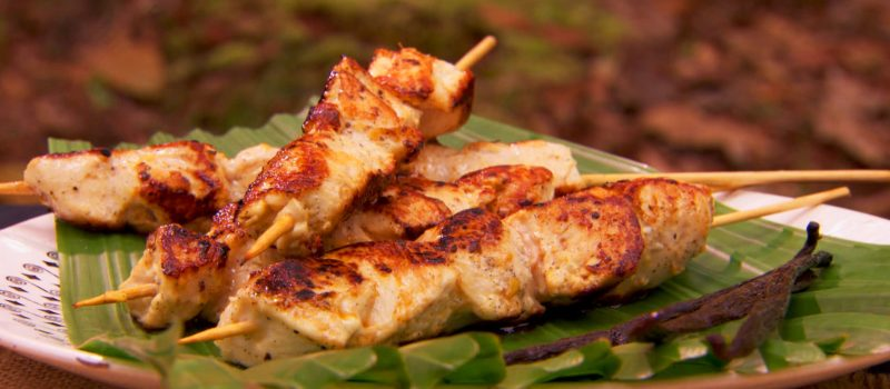 lime chicken skewers