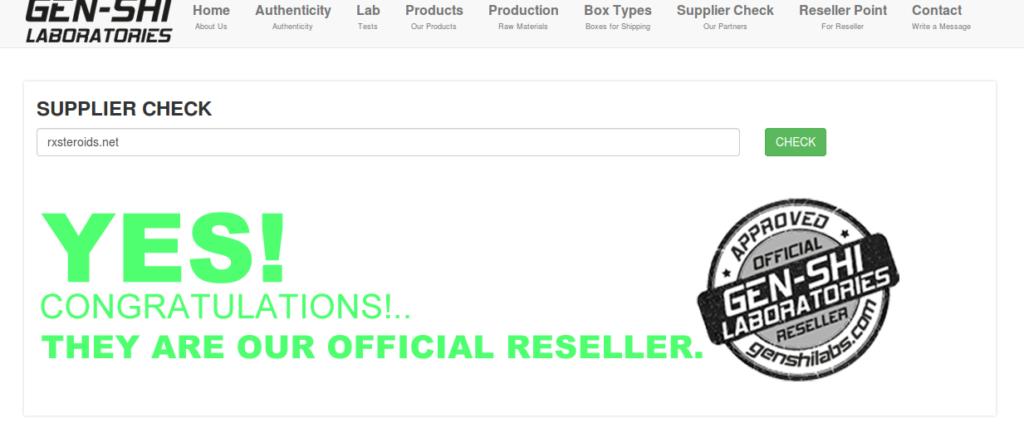 RxSteroids Legit Genshi Labs Supplier